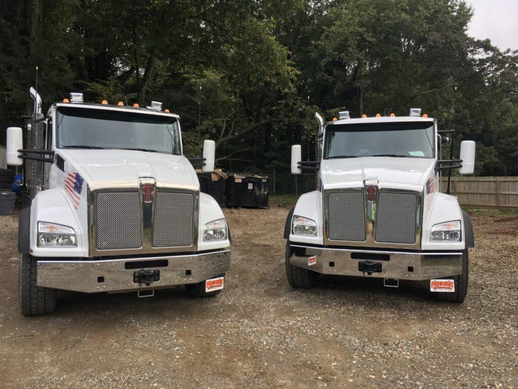 dumpster hauling trucks